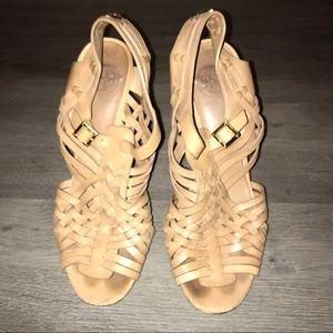 Tory Burch leather huarache heels